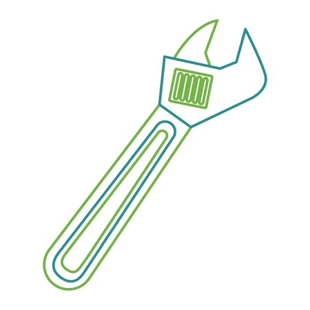 Wrench tool repair construction equipment icon vector illustration Illustration