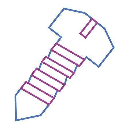 강철 나사 도구 개체 복구 아이콘 벡터 일러스트 레이션
