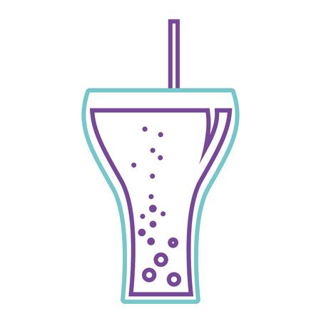 Glass of soda beverage drink icon vector illustration