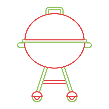 grill equipment wheel steel icon vector illustration