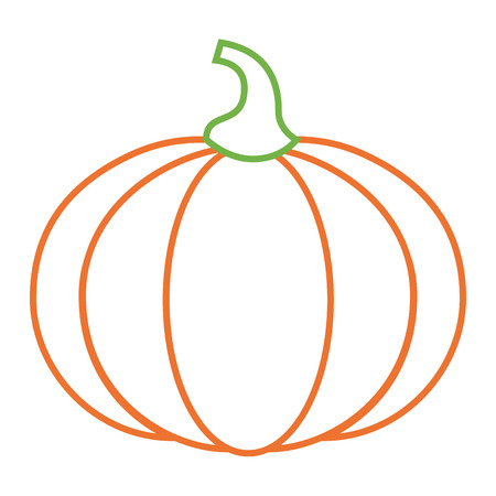 pumpkin vegetable fresh nutrition icon vector illustration