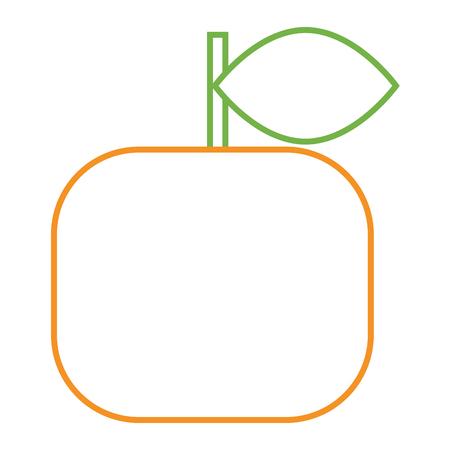Fruta laranja citrinos frescos natureza vector illustration Foto de archivo - 93319032