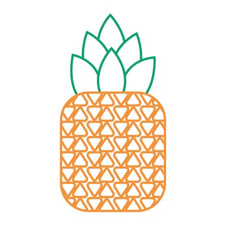 tropical fruit pineapple fresh ripe icon vector illustration