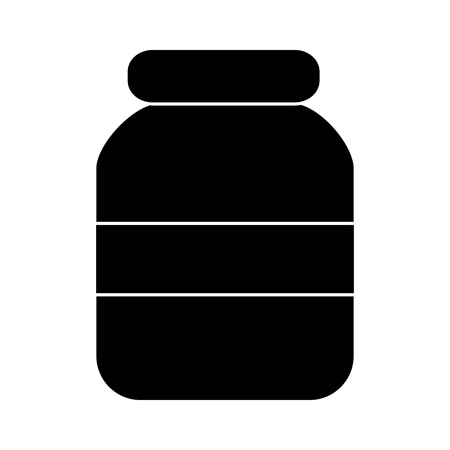 glass jar with cap empty icon vector illustration