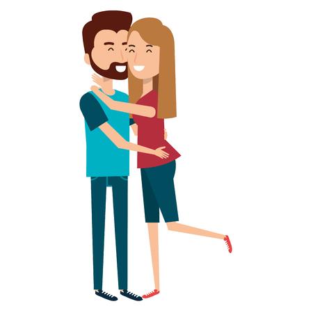 愛のカップルはベクトルイラストデザインを受け入れた