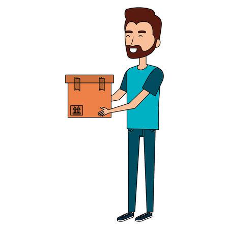 Homme avec boîte avatar illustration vectorielle conception Banque d'images - 93448357