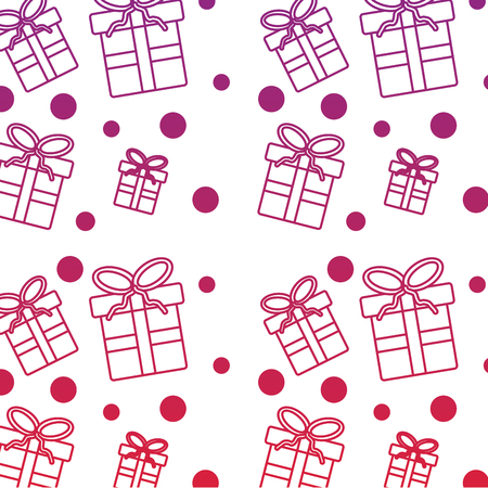 christmas seamless pattern with presents celebration vector illustration Ilustração