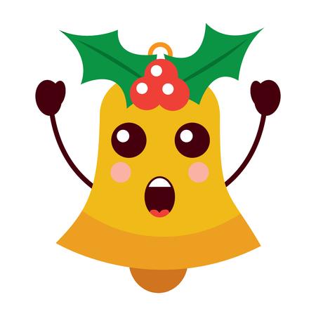 jingle bell surprise expression vector illustration