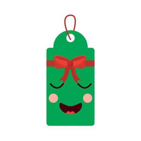 Weihnachtsetikett Cartoon Standard-Bild - 93332961
