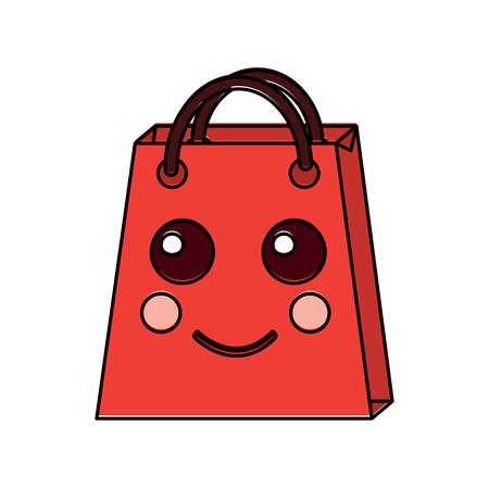 christmas kawaii shop bag character comic vector illustration Stock Vector - 93332720