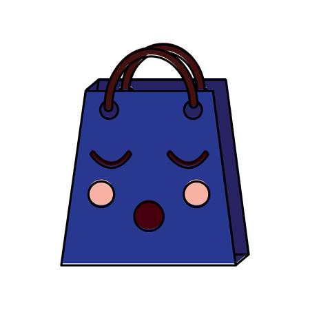 Christmas kawaii shop bag character comic vector illustration Stock Vector - 93333024