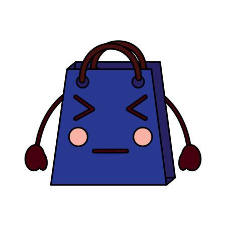 Christmas kawaii shop bag character comic vector illustration Stock Vector - 93333023