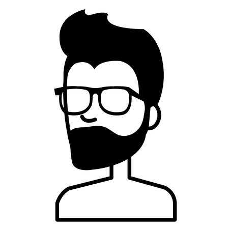 young man shirtless avatar character vector illustration design Stock Vector - 93338974