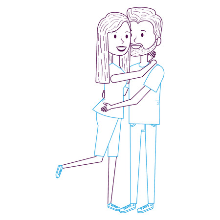 couple in love embraced vector illustration design Illustration