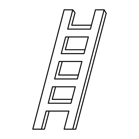 Construction stair isolated icon. Vector illustration design.