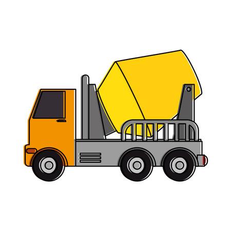 トラックミキサーコンクリートアイコン。●ベクトルイラストデザイン。  イラスト・ベクター素材