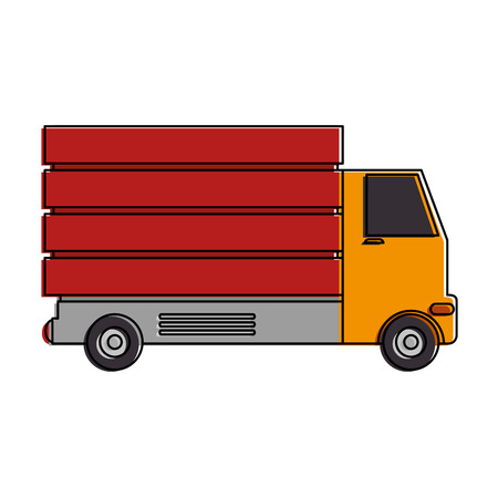 Delivery truck isolated icon. Vector illustration design. Illustration