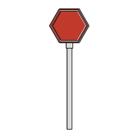 stop traffic signal icon vector illustration design Illustration