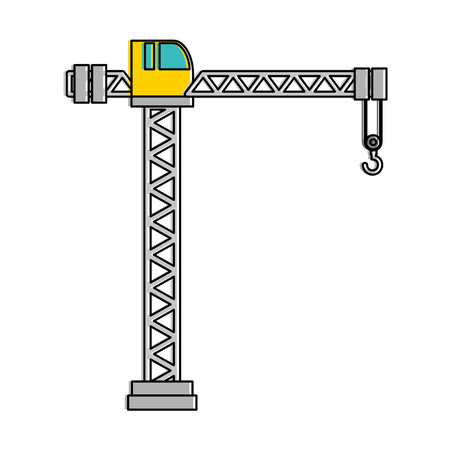 crane construction tower icon vector illustration design