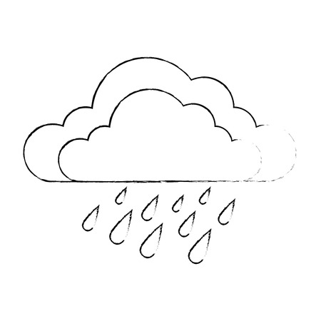 weather cloud rainy icon vector illustration design 向量圖像