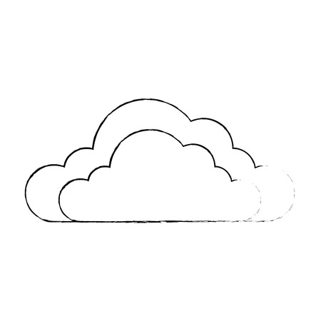 Weather cloud isolated icon. Vector illustration design. 向量圖像