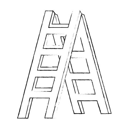 건설 계단 격리 된 아이콘 벡터 일러스트 디자인