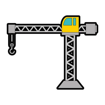 クレーン工事塔アイコンベクトルイラストデザイン