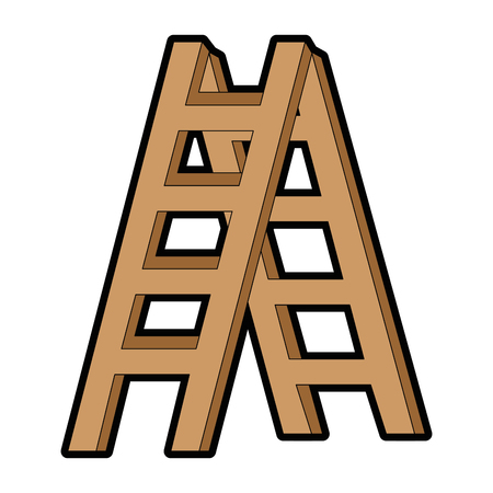 construction stair isolated icon vector illustration design