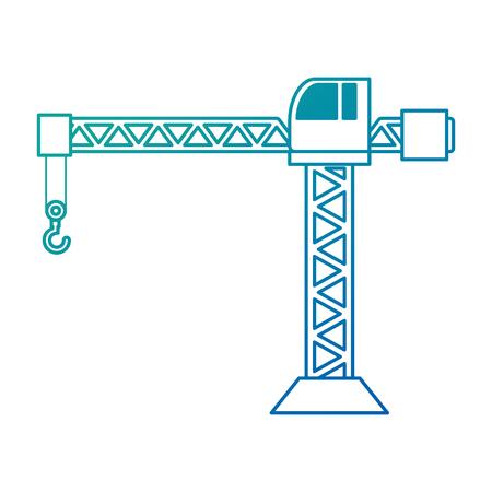 Grue de construction tour icône illustration vectorielle conception Banque d'images - 93343279