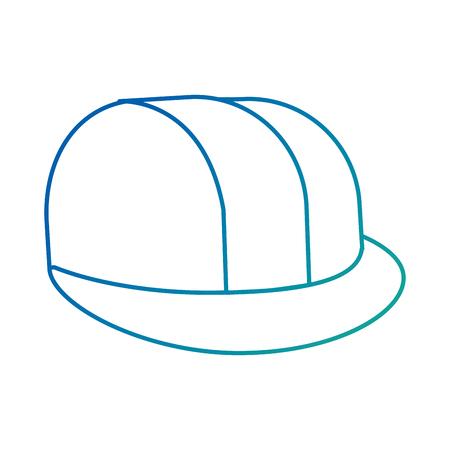 Ontwerp van de het pictogram vectorillustratie van de helm het bouw geïsoleerde
