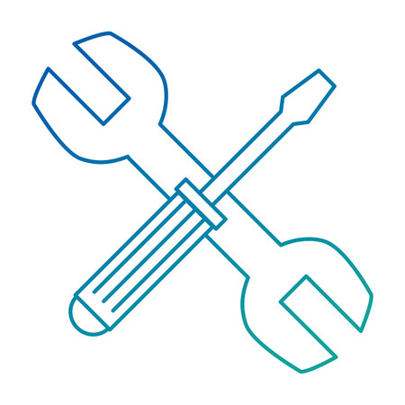 wrench and screwdriver tool isolated icon vector illustration design Illustration