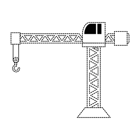 Grue de construction tour icône illustration vectorielle conception Banque d'images - 93343539