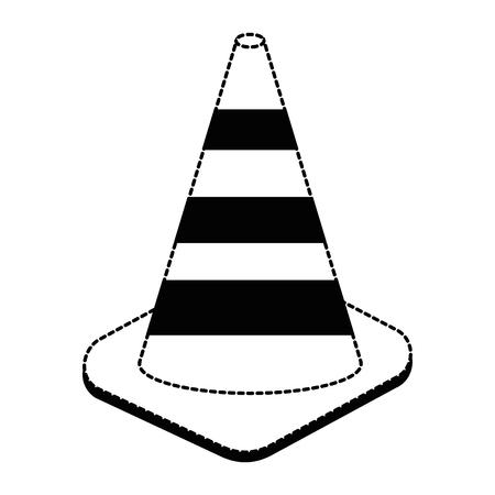 constructie kegels geïsoleerd pictogram vector illustratie ontwerp Stock Illustratie