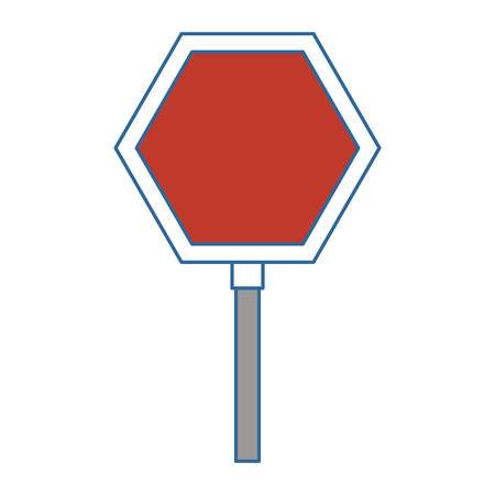 stop traffic signal icon vector illustration design Illusztráció