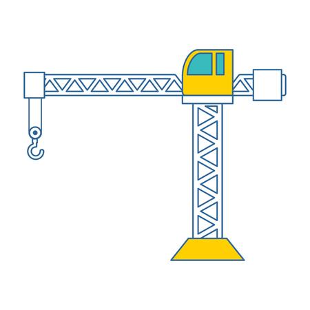 Grue de construction tour icône illustration vectorielle conception Banque d'images - 93347092
