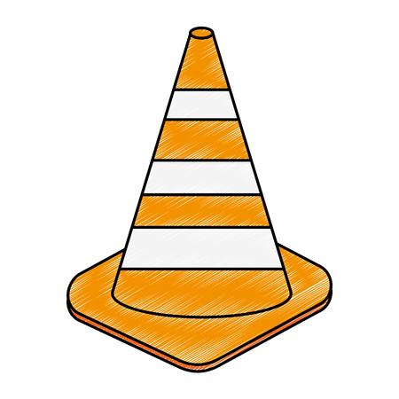 Construction cones isolated icon vector illustration design