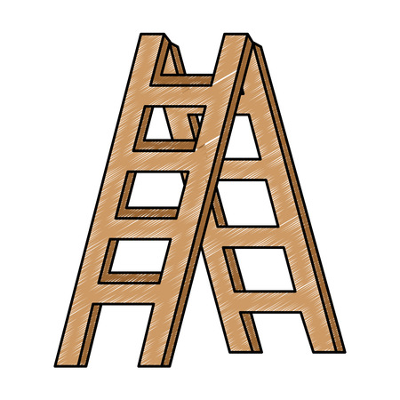 Construction stair isolated icon vector illustration design Vettoriali