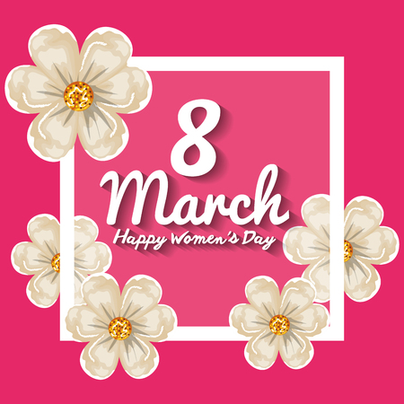 Happy womens day decoration vector illustration design