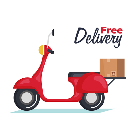 delivery motorcycle isolated icon vector illustration design