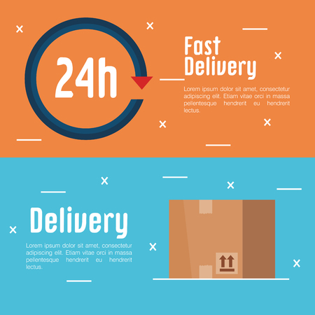 free delivery set icons vector illustration design Illustration