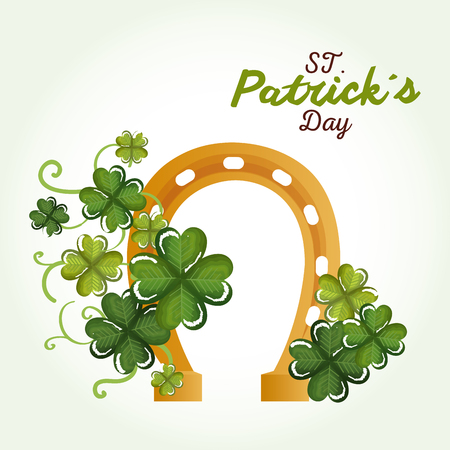 Happy Saint Patrick's day celebration vector illustration design. Иллюстрация