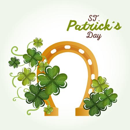 Happy Saint Patricks day celebration vector illustration design.