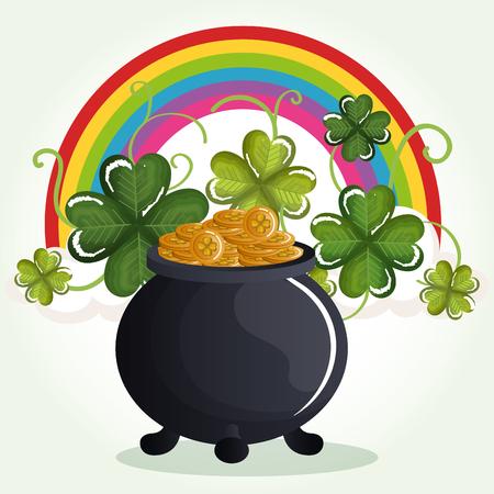 Projeto da ilustração do vetor da celebração do dia de St Patrick feliz. Foto de archivo - 93362748