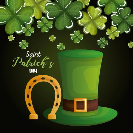 happy saint patricks day celebration vector illustration design