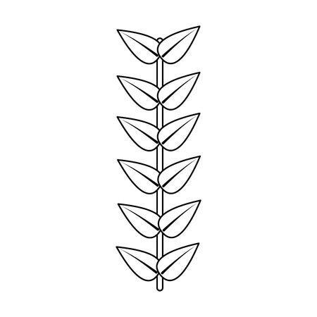 branch leaves stem bloom image vector illustration outline 向量圖像