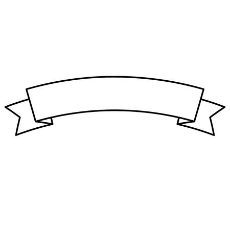ribbon banner decoration ornament icon vector illustration outline