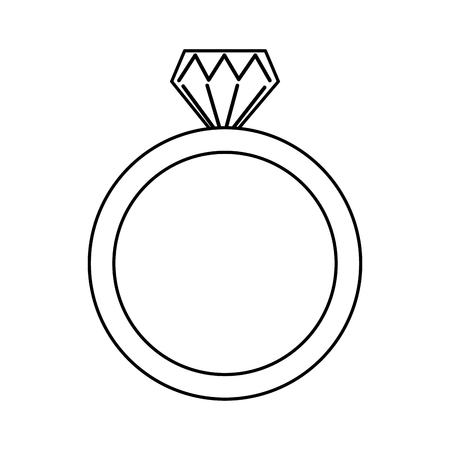 wedding ring icon diamond ring jewelry vector illustration outline Stock fotó - 93415449