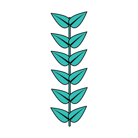 branch leaves stem bloom image vector illustration