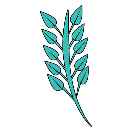 ramo folhas ilustração em vetor flor tronco imagem Ilustración de vector