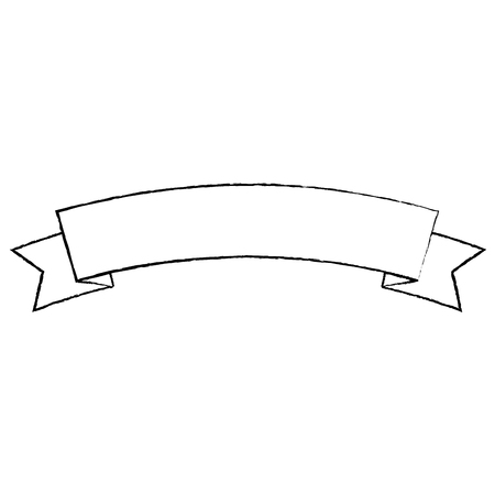 Ribbon banner icon image. Vector illustration design black.